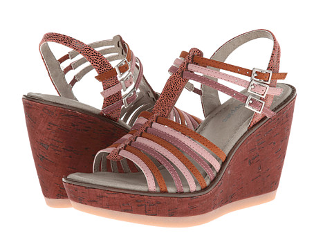 Hush Puppies - Cores Qtr Strap (Pink Multi Nubuck) Women