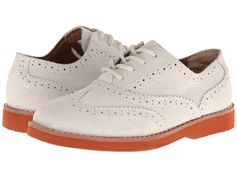 Florsheim Kids - No String Wing Jr. (Toddler/Little Kid/Big Kid) (White) Boy's Shoes