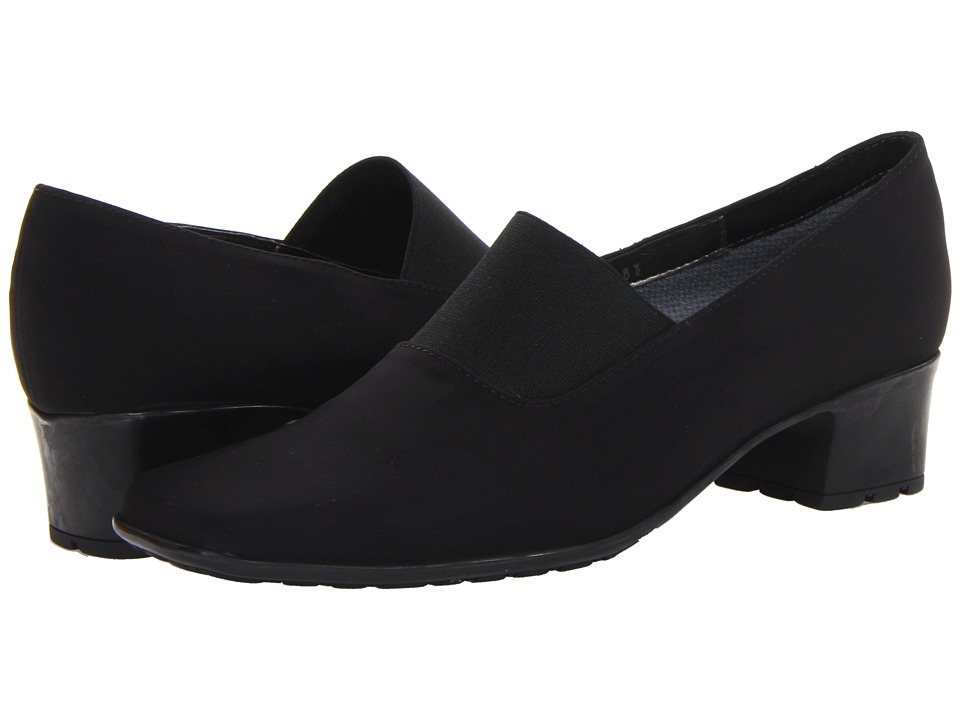 Sesto Meucci - Sassy (Black Nicole Fabric/Black Elastic) Women's Slip on Shoes