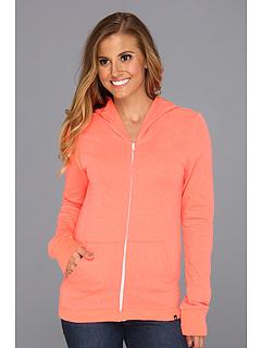 SALE! $19.99 - Save $22 on Hurley Solid Slim Fleece Zip Hoodie (Heather Hot Rod) Apparel - 52.40% OFF $42.00