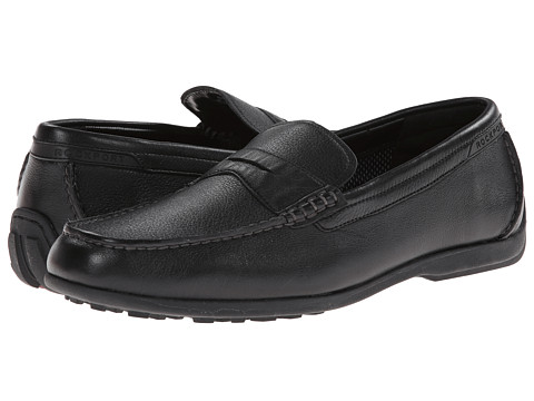 Florsheim - Jasper Penny Loafer Slip-On (Black Smooth) Men