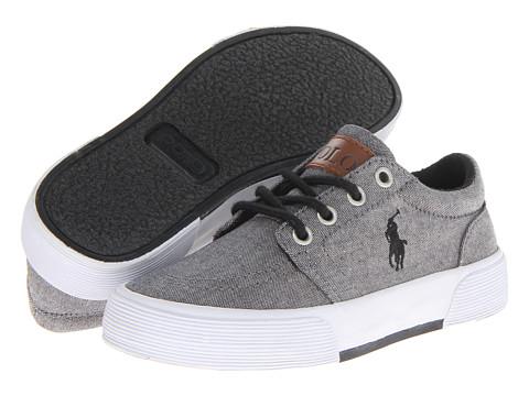 Polo Ralph Lauren Kids - Faxon II (Little Kid) (Dark Grey Chambray) Boys Shoes