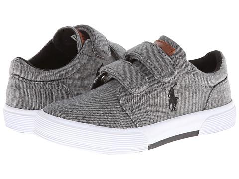 Polo Ralph Lauren Kids - Faxon Ez II (Toddler) (Dark Grey Chambray) Boys Shoes