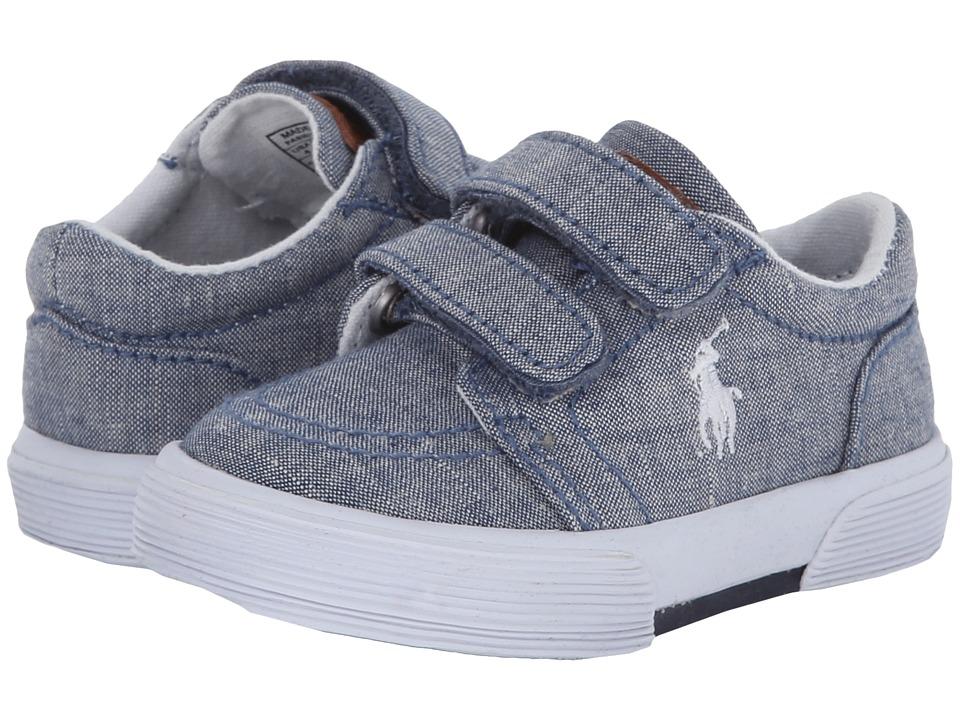 Polo Ralph Lauren Kids - Faxon Ez II (Toddler) (Blue Chambray) Boys Shoes