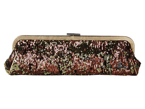 Vivienne Westwood - Paillettes 13-437 Long Clutch (Bordeaux) Handbags