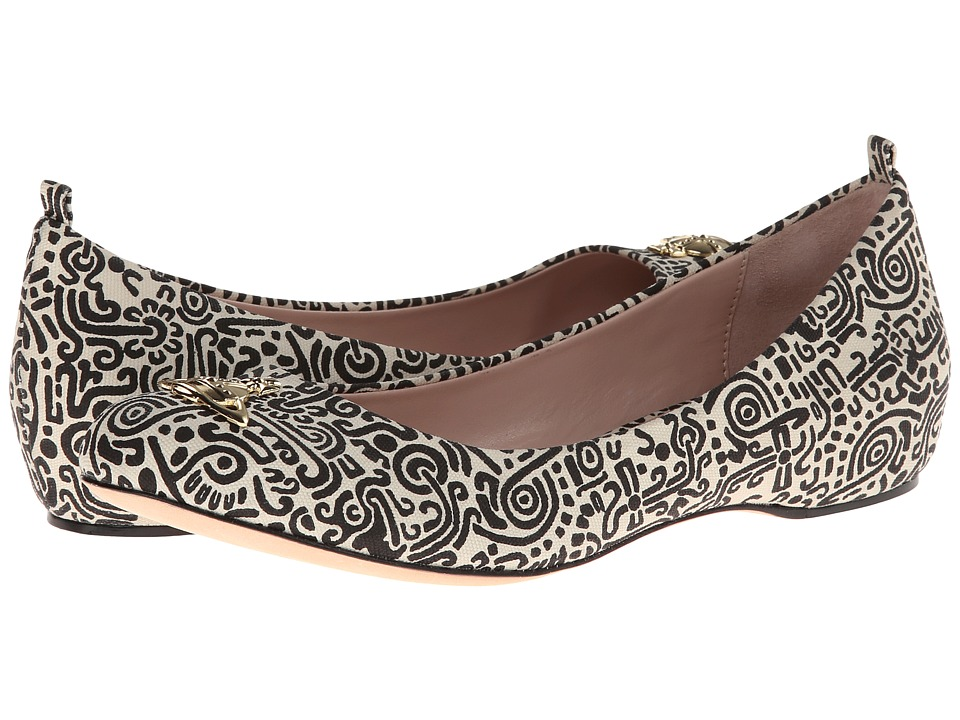 Vivienne Westwood - Helena II (Black Aztec Print) Women's Slip on Shoes