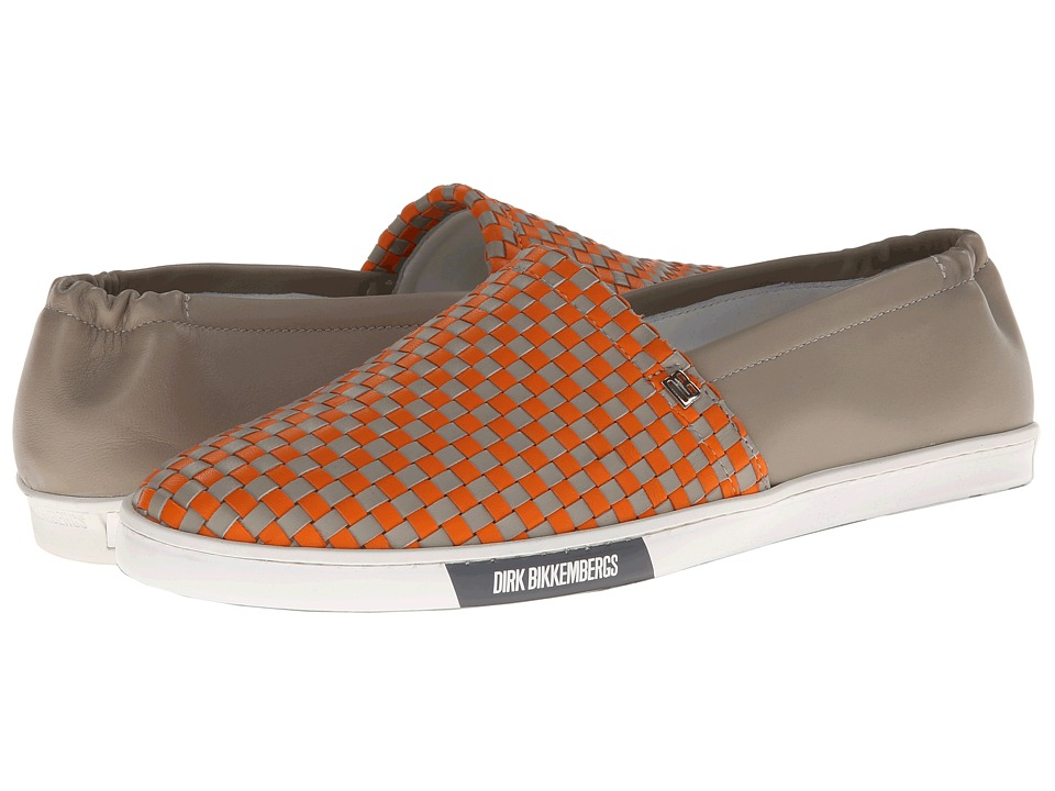 Bikkembergs - New Star 106 Slip On Trainer (Orange/Grey) Men's Slip on Shoes