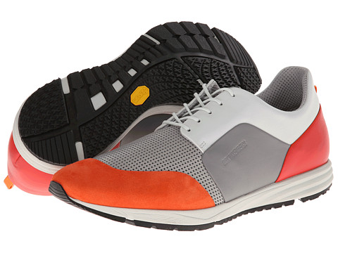 Bikkembergs - Shuffle 24 Low Top Trainer (Grey/Orange) Men's Lace up casual Shoes