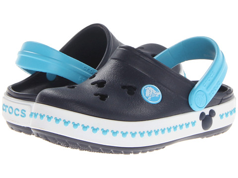 Crocs Kids - Crocs Kids - Crocband Mickey Clog 3 (Toddler/Little Kid) (Navy/Electric Blue) Kid's Shoes