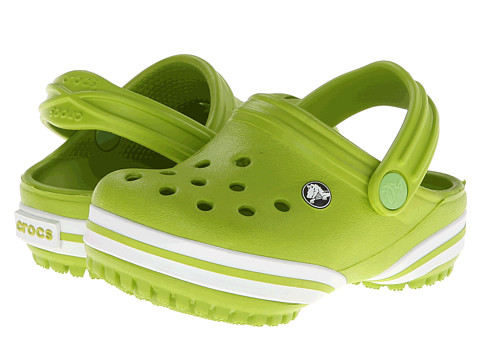 Crocs Kids - Crocband-X Clog (Toddler/Little Kid) (Volt Green) Kids Shoes