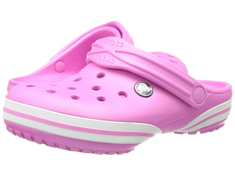 Crocs Kids - Crocband-X Clog (Toddler/Little Kid) (Party Pink/White) Kids Shoes