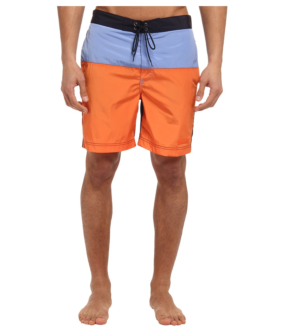 Michael Kors - Color Block Swim Trunk (Tangerine) Men's Swimwear