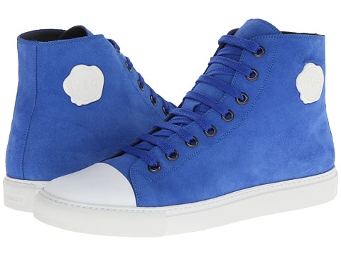 Viktor & Rolf - Suede High Top Trainer (Electric Blue) Men's Lace up casual Shoes