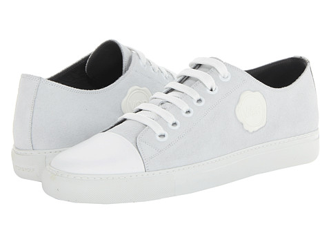 Viktor & Rolf - Suede Low Top Trainer (White) Men's Lace up casual Shoes