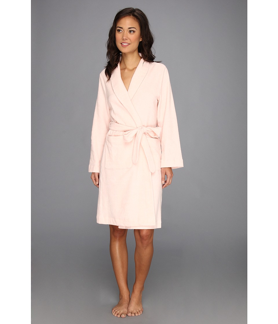 Hanro - Plush Terry Wrap Robe 7127 (Tender Rose) Women's Robe plus size,  plus size fashion plus size appare