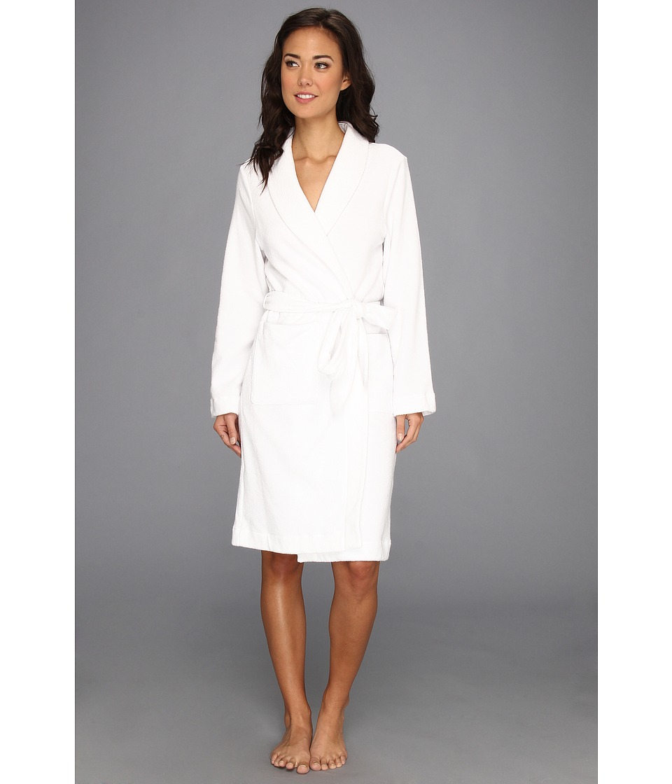Hanro - Plush Terry Wrap Robe 7127 (White) Women's Robe