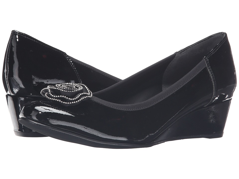 Rose Petals Able (Soft Black Patent) Women