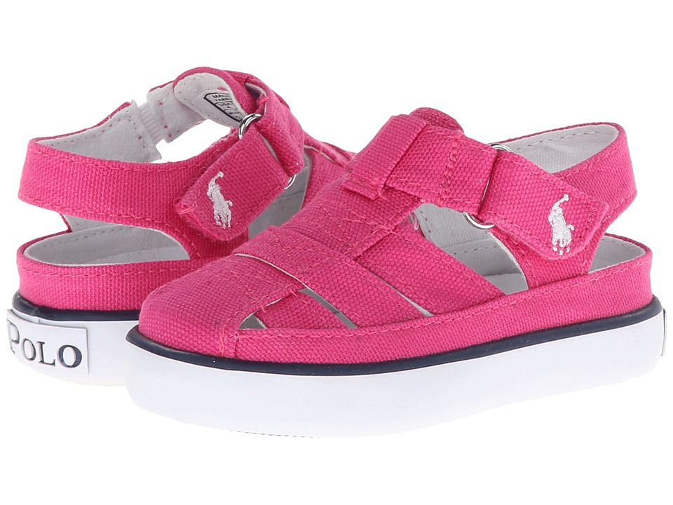 Polo Ralph Lauren Kids - Sander Fisherman II (Toddler) (Active Pink Canvas) Girl's Shoes