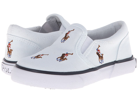 Polo Ralph Lauren Kids - Bal Harbour Repeat FA13 (Toddler) (White Canvas/Multi Colored Ponies) Boys Shoes