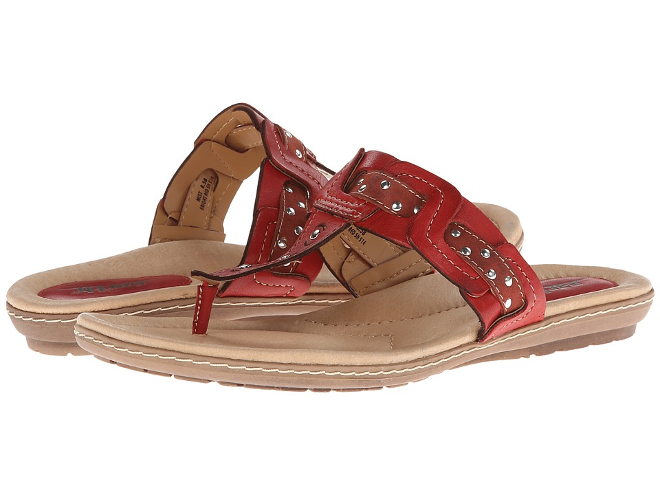 Earth - Mist (Bright Red Full Grain Leather) Women