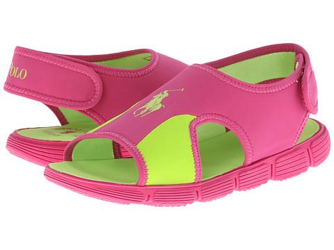 Polo Ralph Lauren Kids - Wavecroft (Little Kid) (Active Pink Neoprene/Citron) Girl