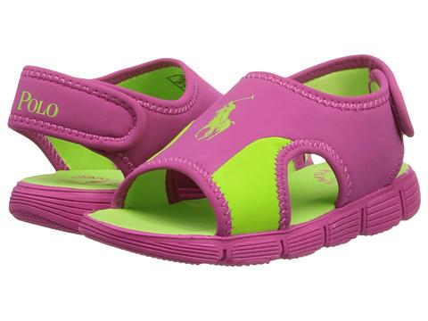 Polo Ralph Lauren Kids - Wavecroft (Toddler) (Active Pink Neoprene/Citron) Girl's Shoes