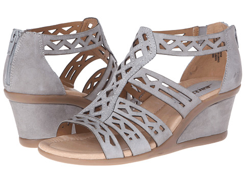 Earth - Petal (Pale Grey Suede) Women's Wedge Shoes