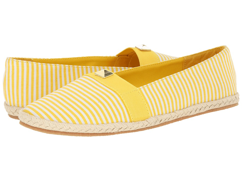 Soft Style - Hillary (Yellow/White Stripe Canvas) Women's Shoes