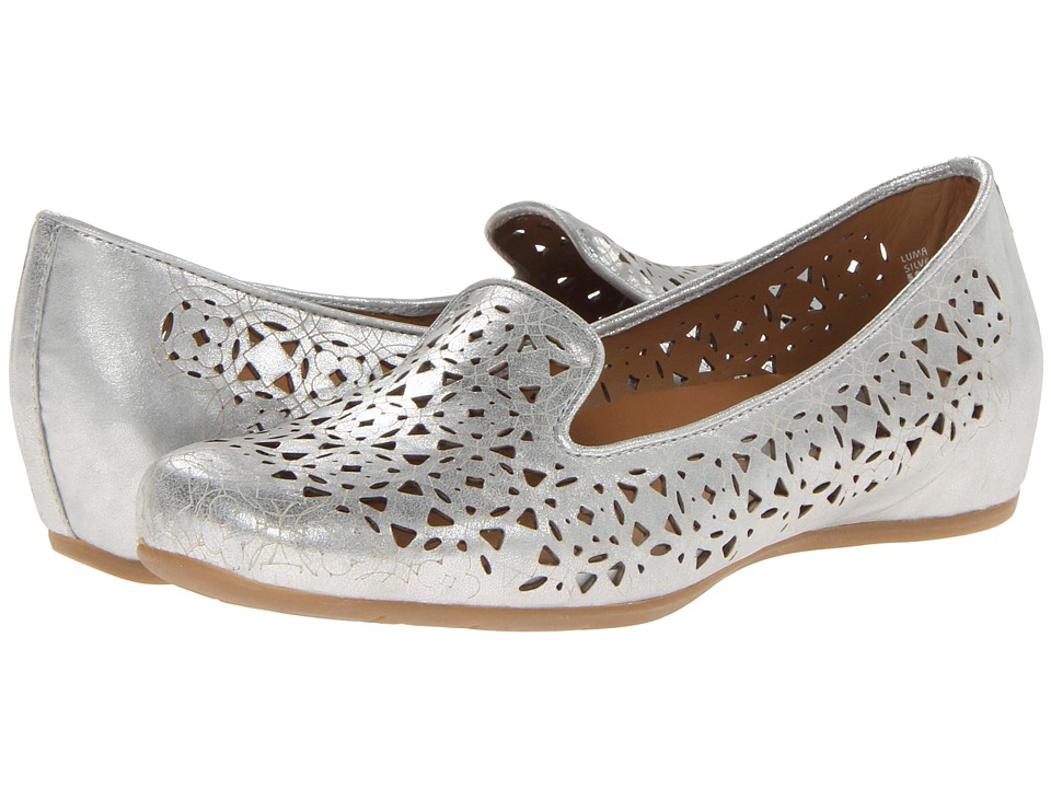 Earthies - Luma (Silver Distressed Leather) Women's Shoes