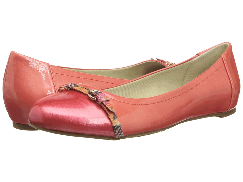 Soft Style - Delsie (Dark Coral Cloud Patent/Rose Cloud Patent) Women's Flat Shoes