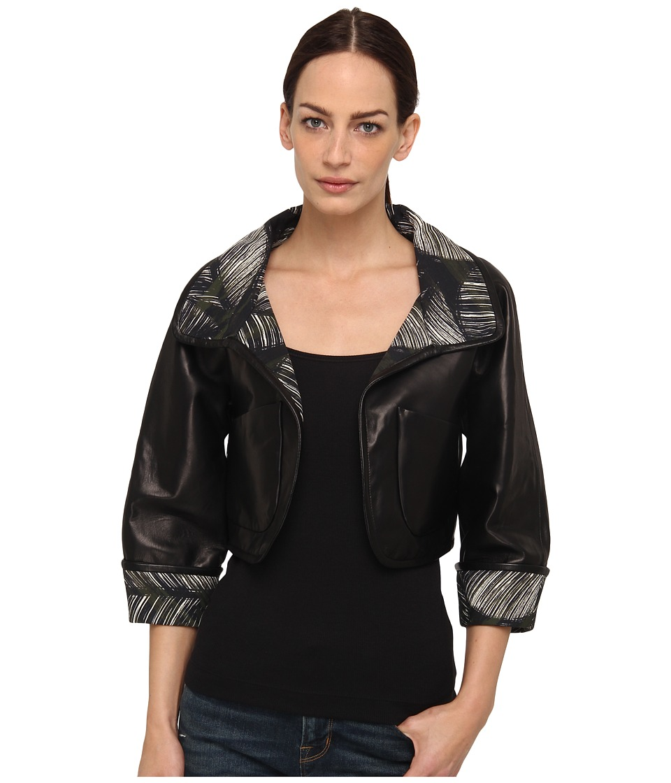 DSQUARED2 - Palms Mix Leather Bolero (Black) Women
