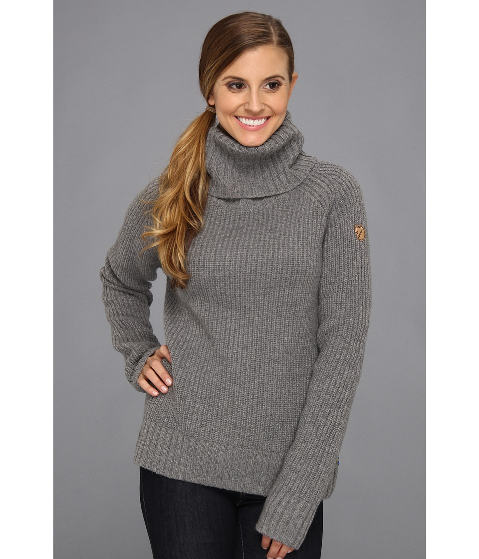 Fj llr ven - vik Roll Neck (Grey) Women's Sweater
