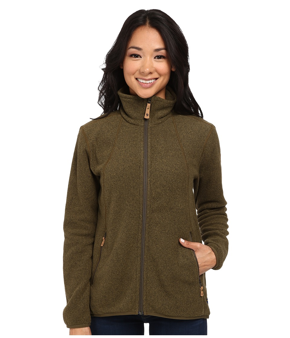 Fjallraven - Stina Fleece (Dark Olive) Women's Fleece