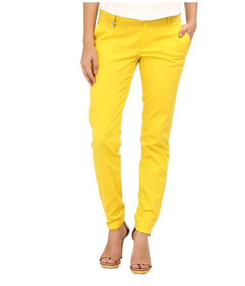 DSQUARED2 - Medium Waist Super Slim Pant (Yellow) Women
