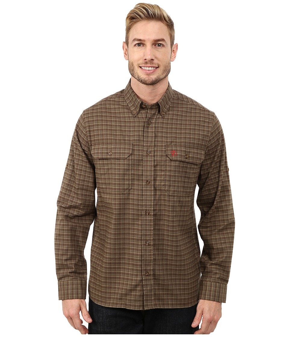 Fjallraven - Forest Flannel Shirt (Dark Olive) Men's Clothing
