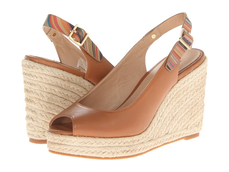 Paul Smith - Beta Wedge Sandal (Light Tan) Women's Sandals