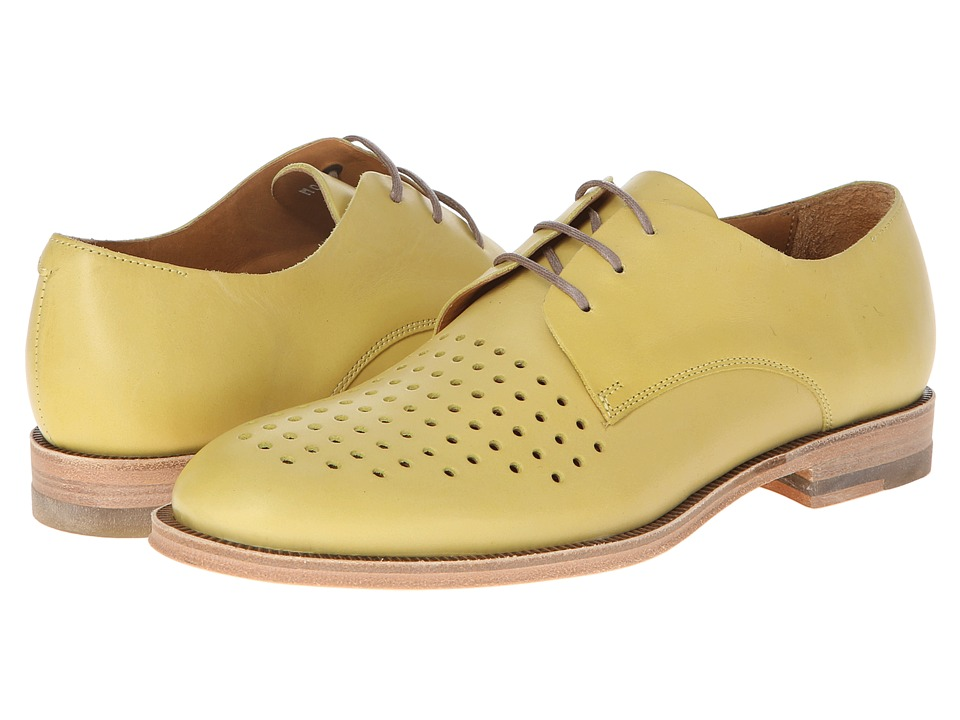 Paul Smith - Frank Perforated Captoe (Yellow) Women's Shoes