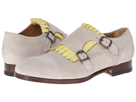 Paul Smith - Foster Captoe Kiltie Monkstrap (Tan) Women's Monkstrap Shoes