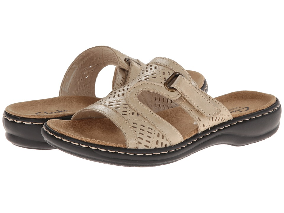 Clarks - Leisa Sugar (Bone Leather) Women's Sandals