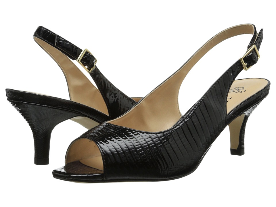 J. Renee - Classie (Black) Women's Sling Back Shoes