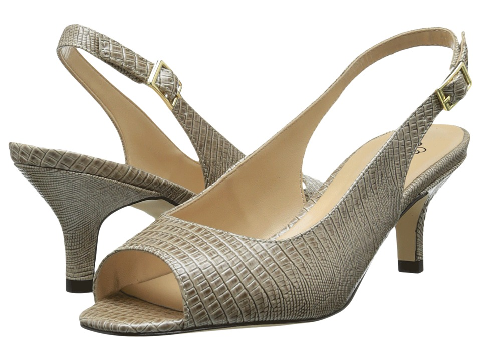 J. Renee - Classie (Taupe) Women's Sling Back Shoes