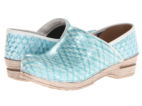 Sanita - Professional Dory (Light Blue Embossed Leather) Women's Clog Shoes
