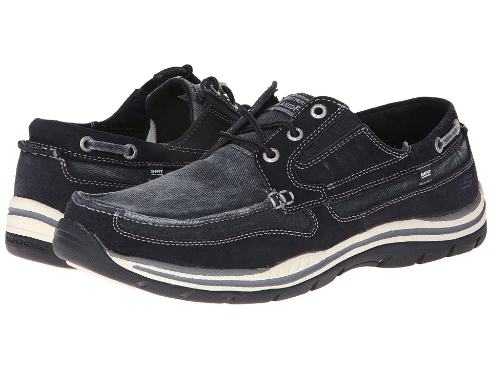 SKECHERS - Expected (Navy) Men's Lace up casual Shoes