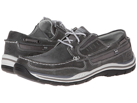 SKECHERS - Expected 2 (Charcoal) Men's Lace up casual Shoes