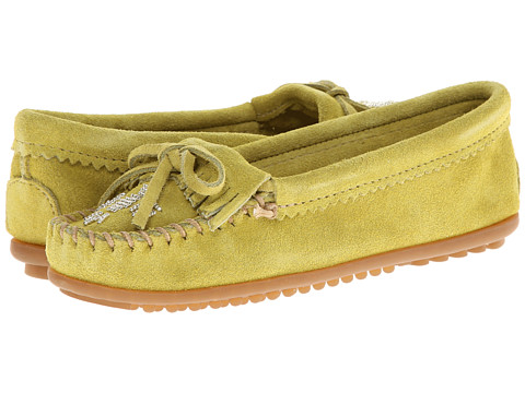 Minnetonka - Thunderbird II (Lime Suede) Women's Moccasin Shoes