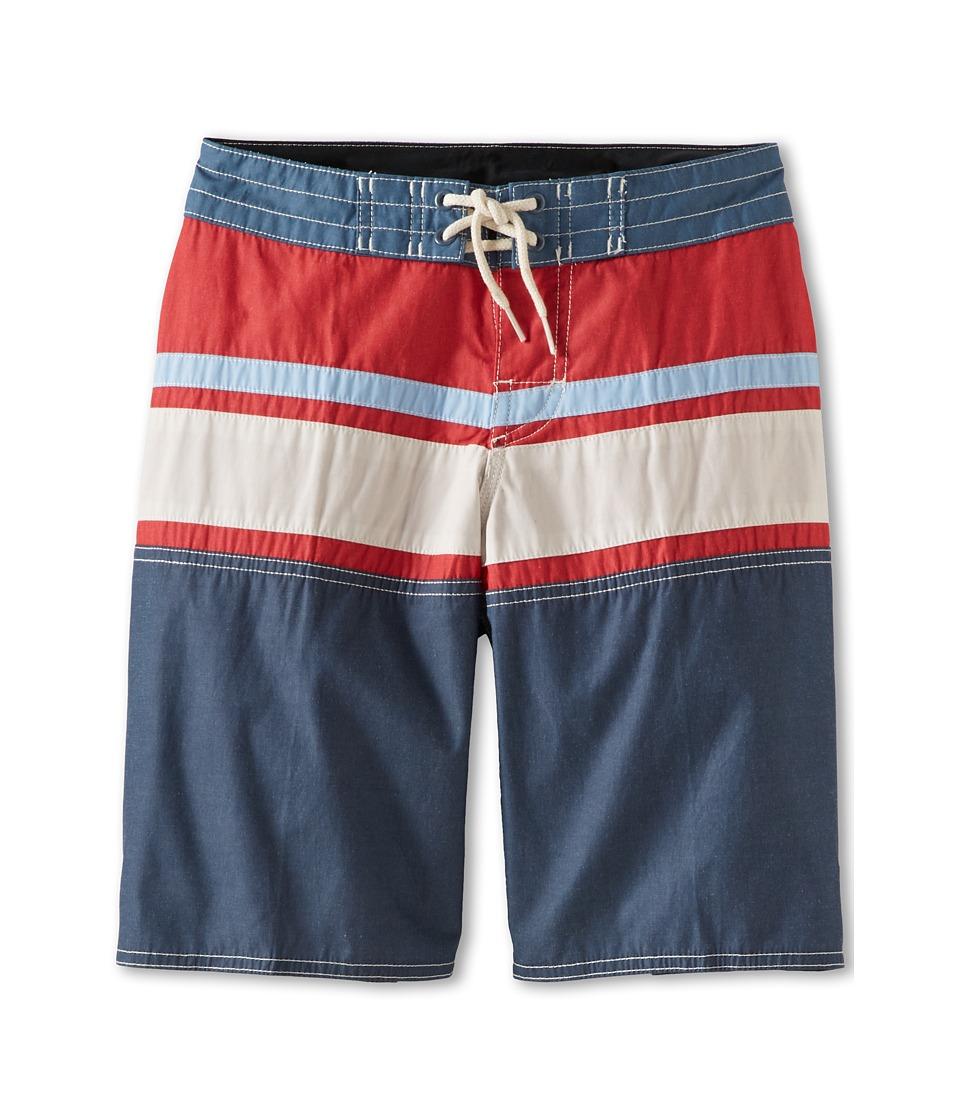 Quiksilver Kids Panel Stripe Boardshort Boys Swimwear (Red)