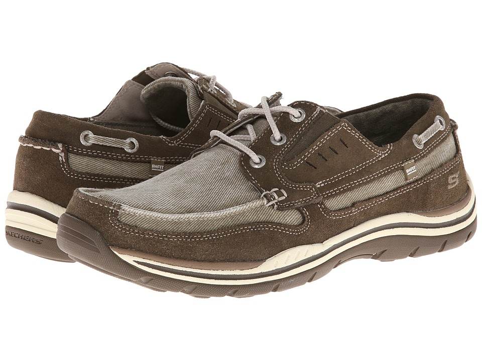 SKECHERS - Expected (Brown) Men's Lace up casual Shoes