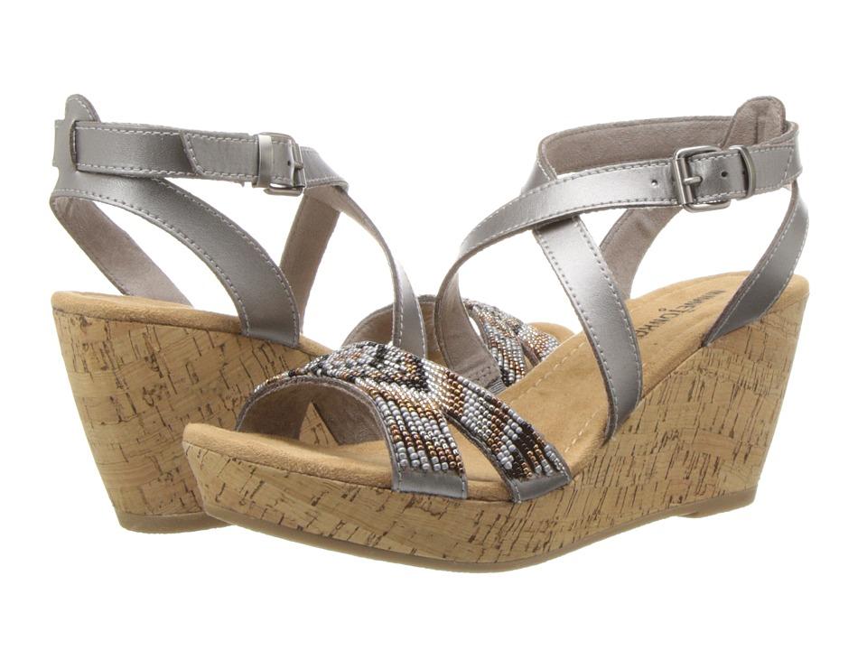 Minnetonka - Zoey (Pewter Leather/Metallic Multi) Women's Wedge Shoes