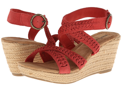 Minnetonka - Haley (Coral Suede/Jute) Women's Wedge Shoes