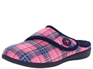 VIONIC with Orthaheel Technology Shawn Slipper (Pink Plaid)